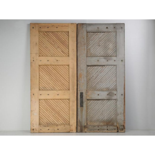 Antique 1890s American Garage or Barn Doors - a Pair For Sale - Image 11 of 13