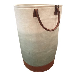 Jamie Young Faded Fabric Bin For Sale