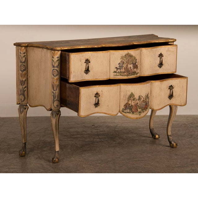 Antique Italian Baroque Painted Two Drawer Chest, circa 1750 For Sale In Houston - Image 6 of 11