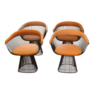 1960s Warren Platner for Knoll Mid-Century Modern Wire Dining Chairs -Set of 4 For Sale