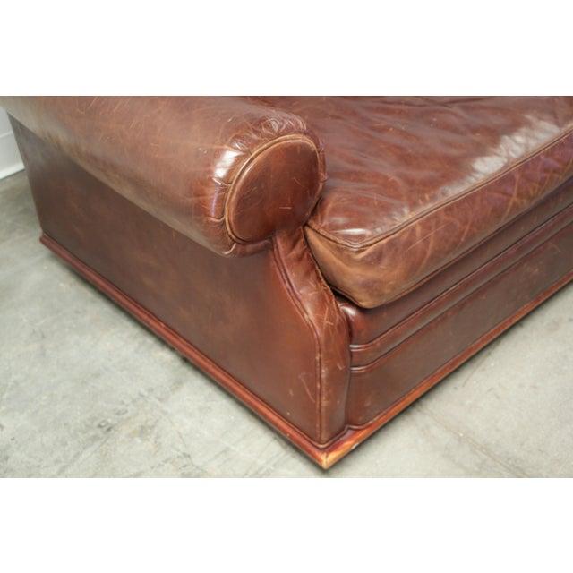 Vintage Ralph Lauren Leather Floating Sofa For Sale - Image 9 of 13