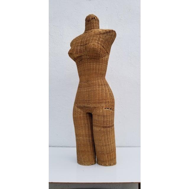 1970s Figurative Wicker Female Mannequin Torso For Sale - Image 9 of 13