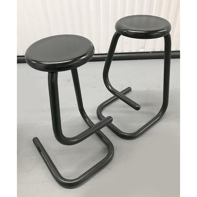 """1970s """"Paperclip"""" Bar Stools by Haworth for Kinetic For Sale - Image 10 of 10"""