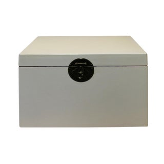 Chinese Off White Rectangular Shape Container Box For Sale