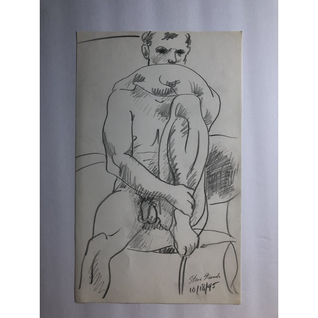 """Steve French, Model"" Male Nude by James Bone, 1995 For Sale - Image 4 of 4"
