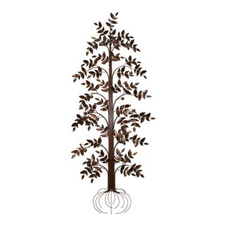 Curtis Jere Copper Toned Metal Tree Sculpture C.1970s For Sale