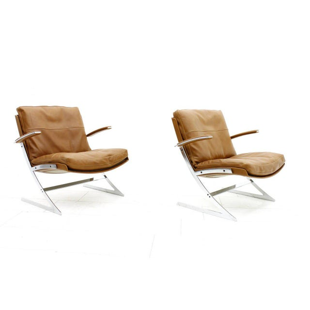 Preben Fabricius Pair of Lobby Lounge Chairs by Preben Fabricius for Arnold Exclusiv, 1972 For Sale - Image 4 of 11