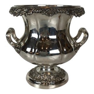 Antique Sheffield Style Georges Silverplate Wine Cooler /Champagne Cooler For Sale