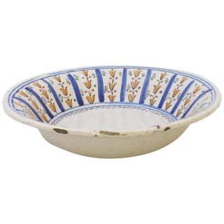 Early 19th Century Antique Spanish Faience Bowl For Sale