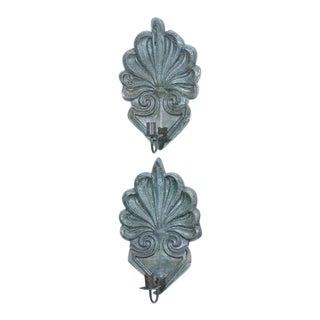 Zinc Single Arm Sconces, English Circa 1820 - a Pair For Sale