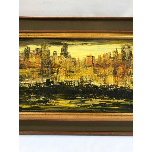 Viola Allen Abstract Cityscape Painting - Image 3 of 9