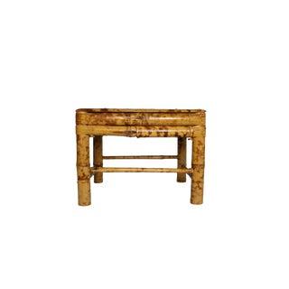 Vintage Tortoiseshell Bamboo Stool For Sale