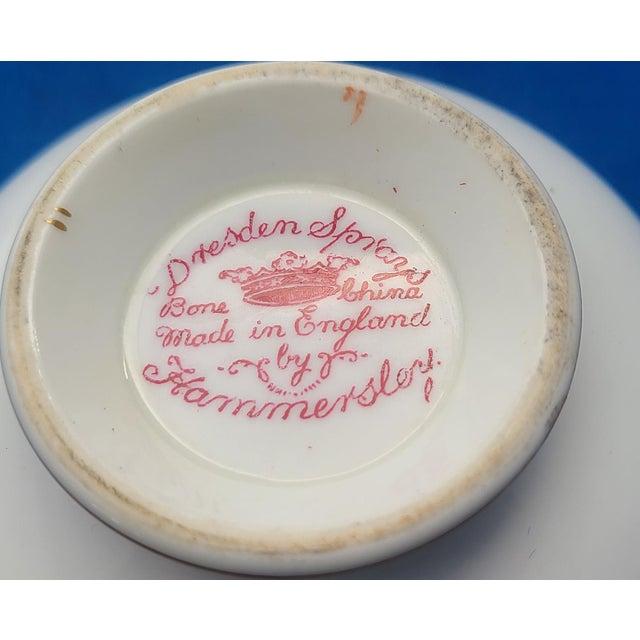 1940s Dresden Sprays English Fine Bone China Hammersley Tea ~ Coffee Cup For Sale - Image 5 of 6