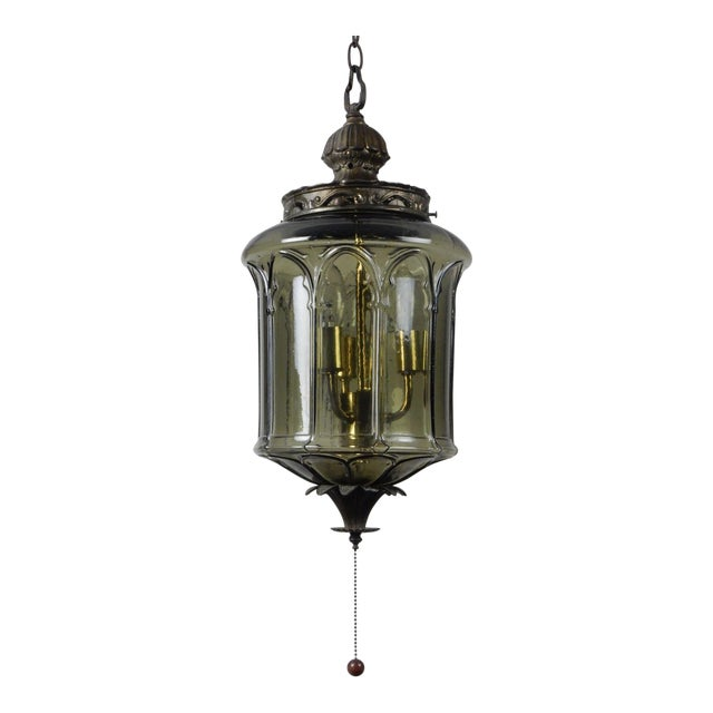 Antique gothic style green glass chandelier chairish antique gothic style green glass chandelier aloadofball Gallery