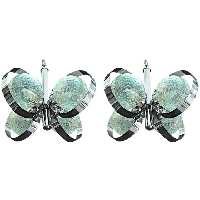 Mid-Century Modern 1960s Chrome Light - a Pair For Sale - Image 3 of 3