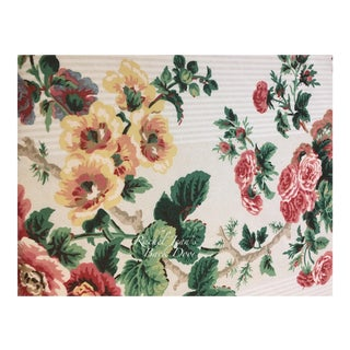 Vintage 1980's Shabby Chic Style Rose Pattern P. Kaufmann Fabrics by Waverly For Sale