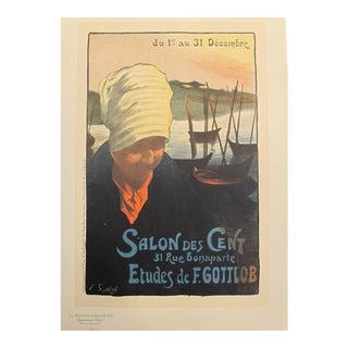 1890s Original French Art Nouveau Maitre De l'Affiche Poster, Salon Des Cent - Gottlob (Plate 239) For Sale