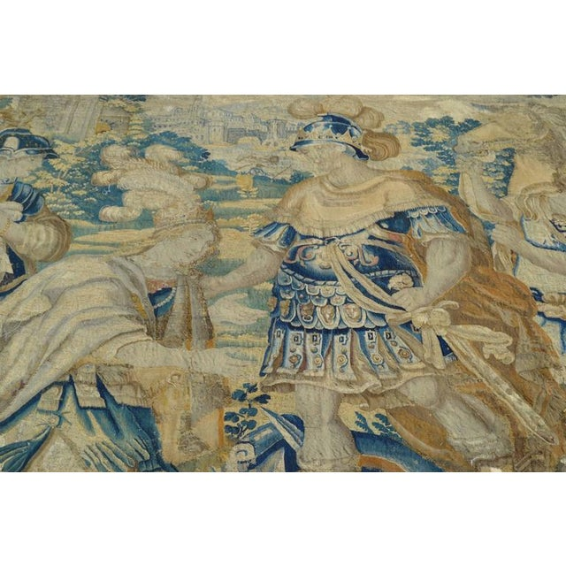 Baroque Huge Flemish Tapestry of King Solomon Meeting the Queen of Sheba For Sale - Image 3 of 8