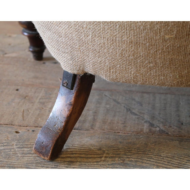 19th Century Napoleon III Button Tufted Chair For Sale - Image 10 of 12