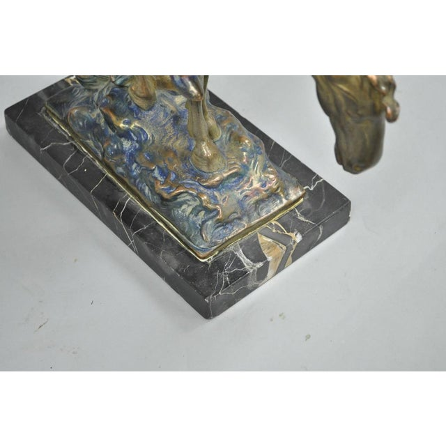 Austrian Cold Painted Bronze End of Trail Statue Sculpture After James Fraser For Sale - Image 10 of 11