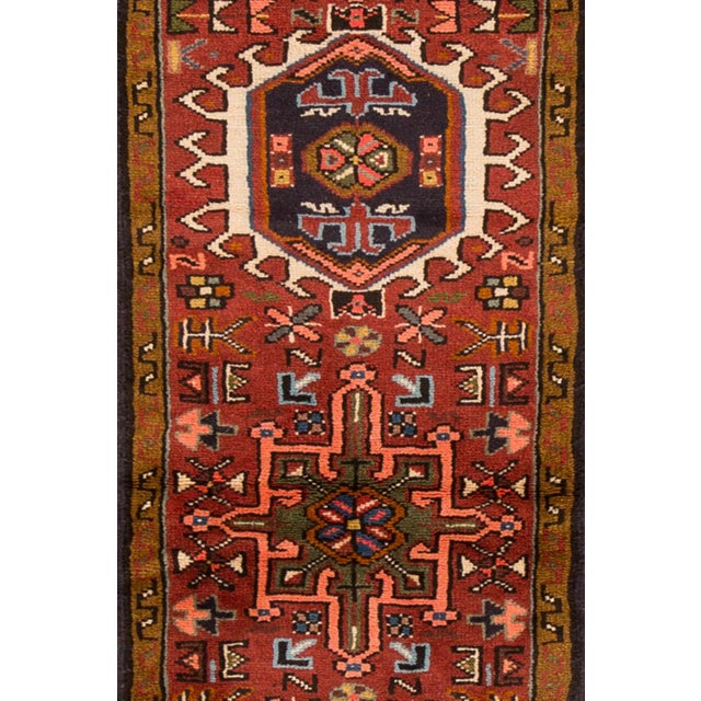 "Apadana - Vintage Persian Heriz Rug, 1'7"" x 6'3"" For Sale - Image 4 of 5"