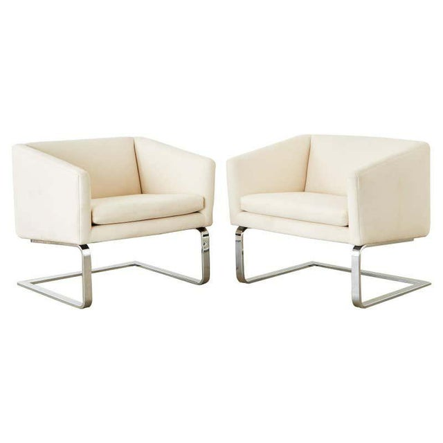 Selig Mid-Century Modern Cantilever Lounge Chairs - a Pair For Sale - Image 13 of 13