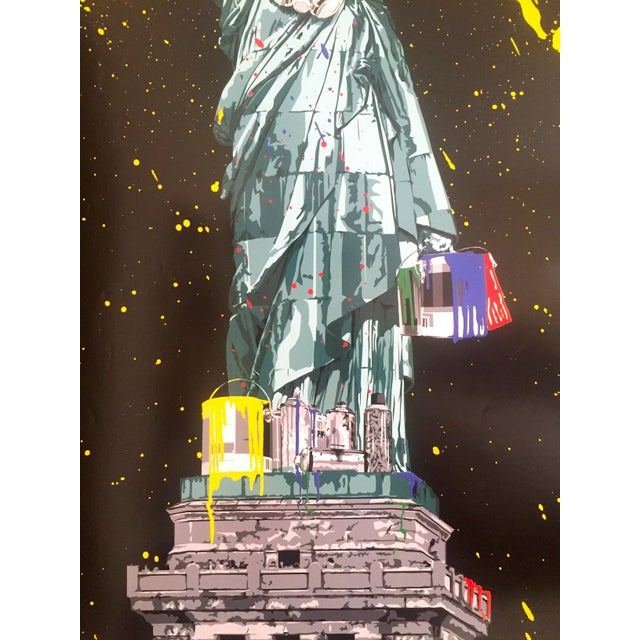 "Mr. Brainwash "" Statue of Liberty "" Authentic Lithograph Print Pop Art Poster For Sale - Image 9 of 12"