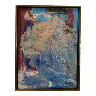 Contemporary Abstract Oil Painting, Framed For Sale