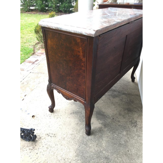 18th C. Continental Burl Walnut Commode - Image 6 of 6