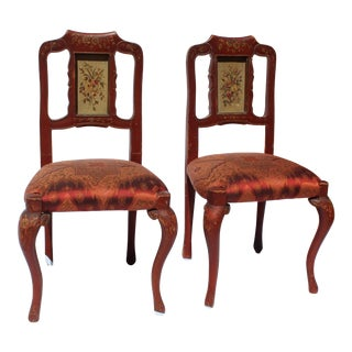 19th C. Italian Children's Chairs- a Pair For Sale