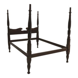 19th Century Mahogany Four Poster Bed For Sale