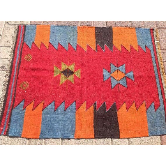 Vintage Turkish Kilim Rug - 2′9″ × 3′6″ - Image 3 of 6