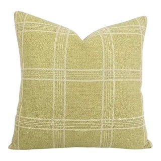 Colefax and Fowler Ellary Plaid Jacquard Accent Pillow For Sale