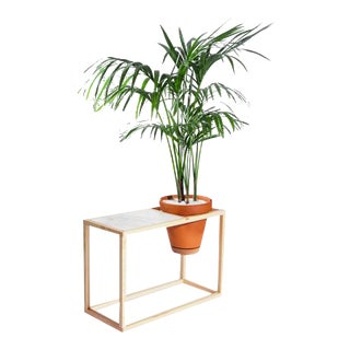 Trey Jones Studio Frame Planter Side Table For Sale