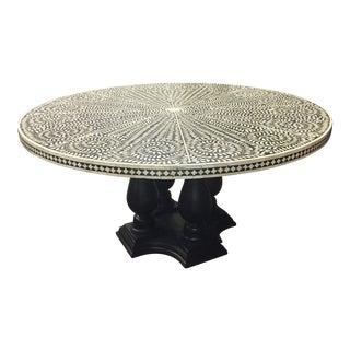 Moorish Bone Inlay Wood Dining Table For Sale