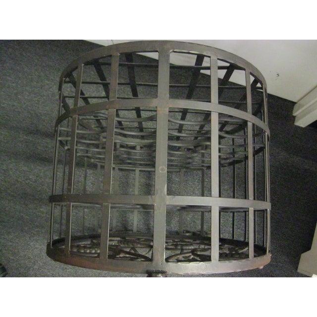 Custom Wrought Iron 24-Bottle Wine Cage - Image 8 of 10