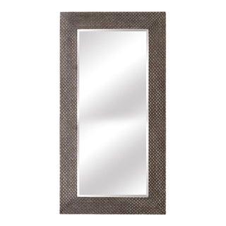 Terrance Weave Wood Frame Full Length Floor Mirror For Sale