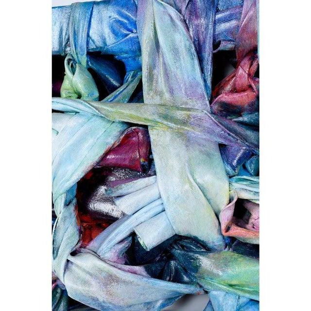 Robert Patrick Painted Acrylic Over Vinyl Textile Fiber Art, 1991 For Sale - Image 4 of 7