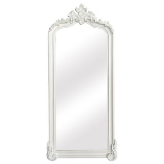 Blenheim White Crown Arched Full Length Floor Mirror For Sale