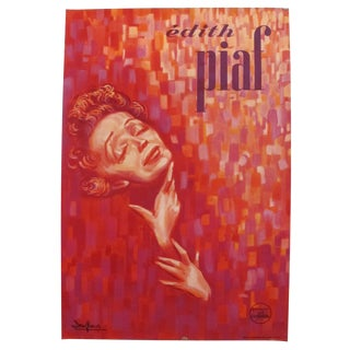 1950s Original French Personality Poster, Edith Piaf For Sale