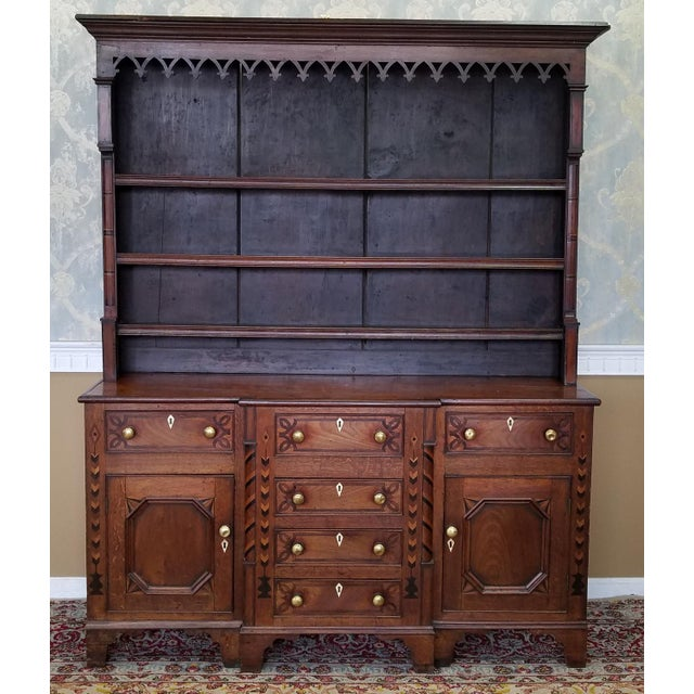 narrow hutch for dining room | 19th Century Antique Oak Inlaid Welsh/Jacobean Style ...