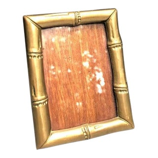Brass Bamboo Picture Frame For Sale