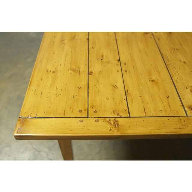 Italian Pine Farm Dining Table - Image 8 of 11