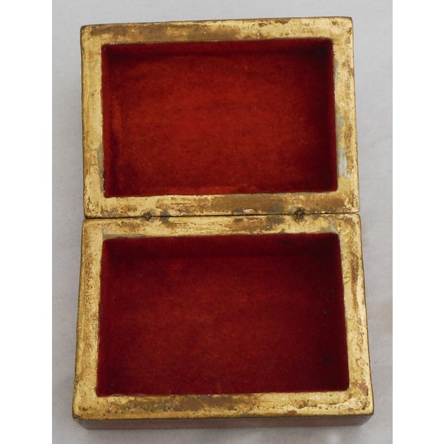 Florentine Red & Gilded Wood Box - Image 4 of 5