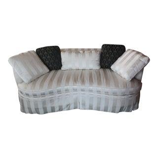 Century Ivory Stripe Upholstered Sofa For Sale