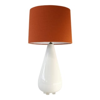 White Glass Table Lamp For Sale