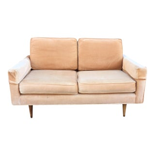Mid Century Modern Florence Knoll Style Loveseat For Sale