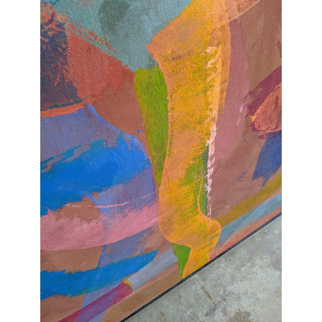 """81"""" Oversize Framed Oil on Canvas Abstract Painting For Sale - Image 10 of 13"""