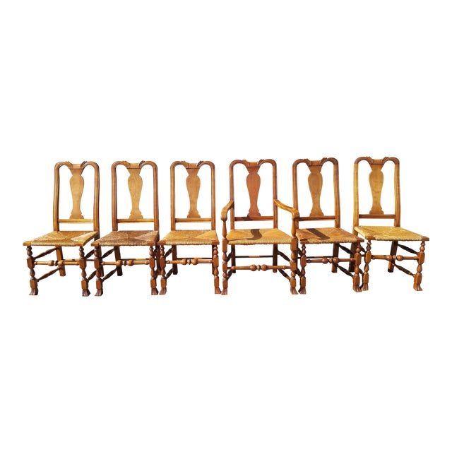 Stickley Reproduction Queen Anne Dining Chairs - Set of 6 - Image 1 of 9