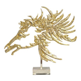 """Brutalist """"Cheval"""" Sculpture by Philippe Cheverny For Sale"""